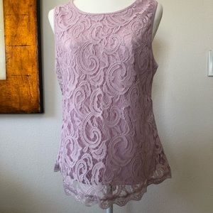 Tops - Adrianna Papell  Pink Lace Top